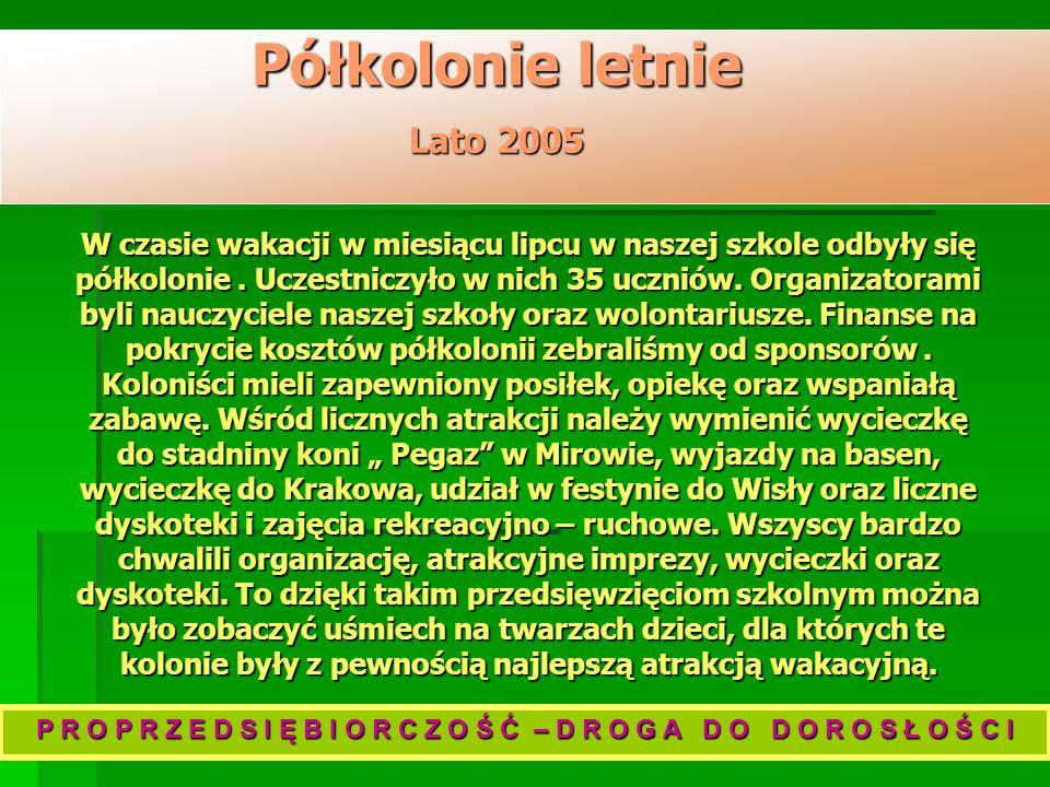 Półkolonie letnie Lato 2005