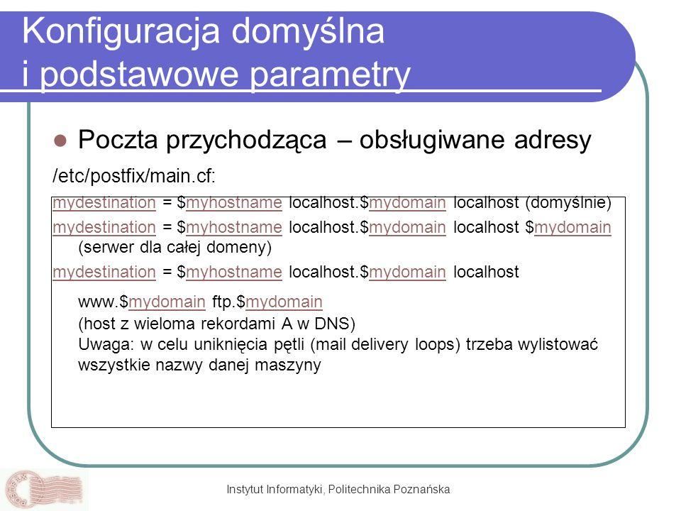 Konfiguracja domyślna i podstawowe parametry