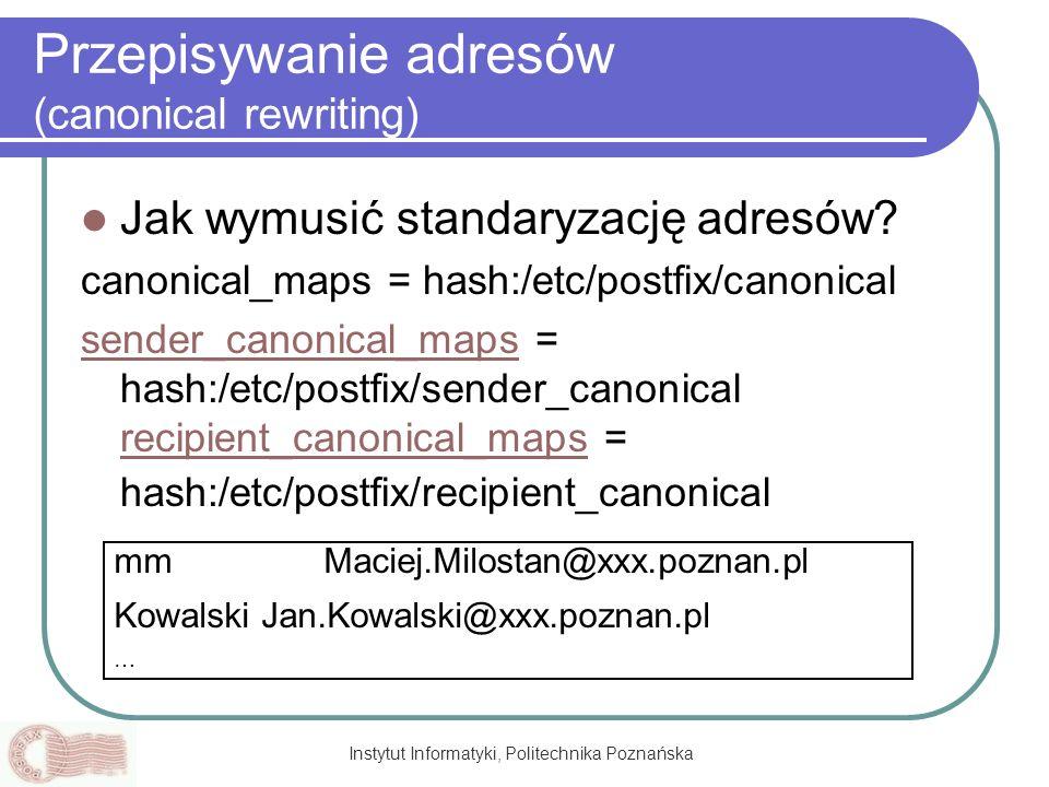 Przepisywanie adresów (canonical rewriting)