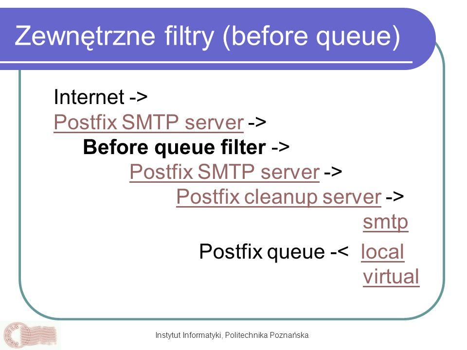 Zewnętrzne filtry (before queue)