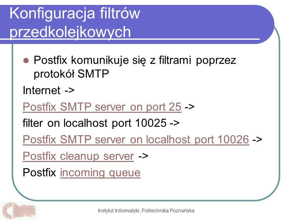 Konfiguracja filtrów przedkolejkowych