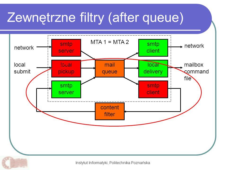 Zewnętrzne filtry (after queue)