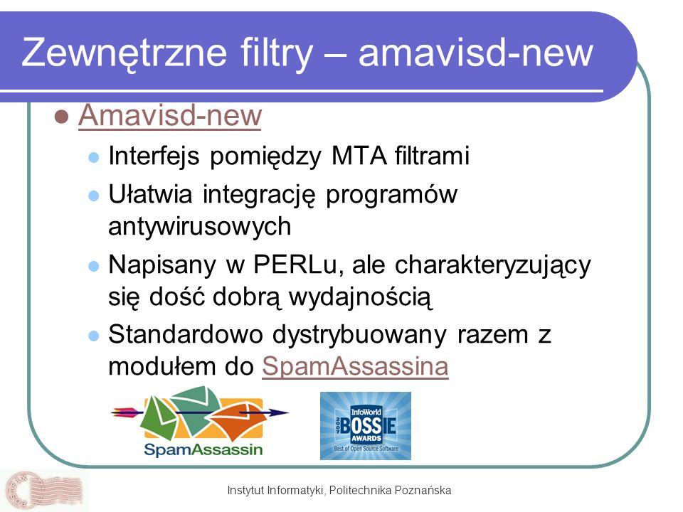 Zewnętrzne filtry – amavisd-new