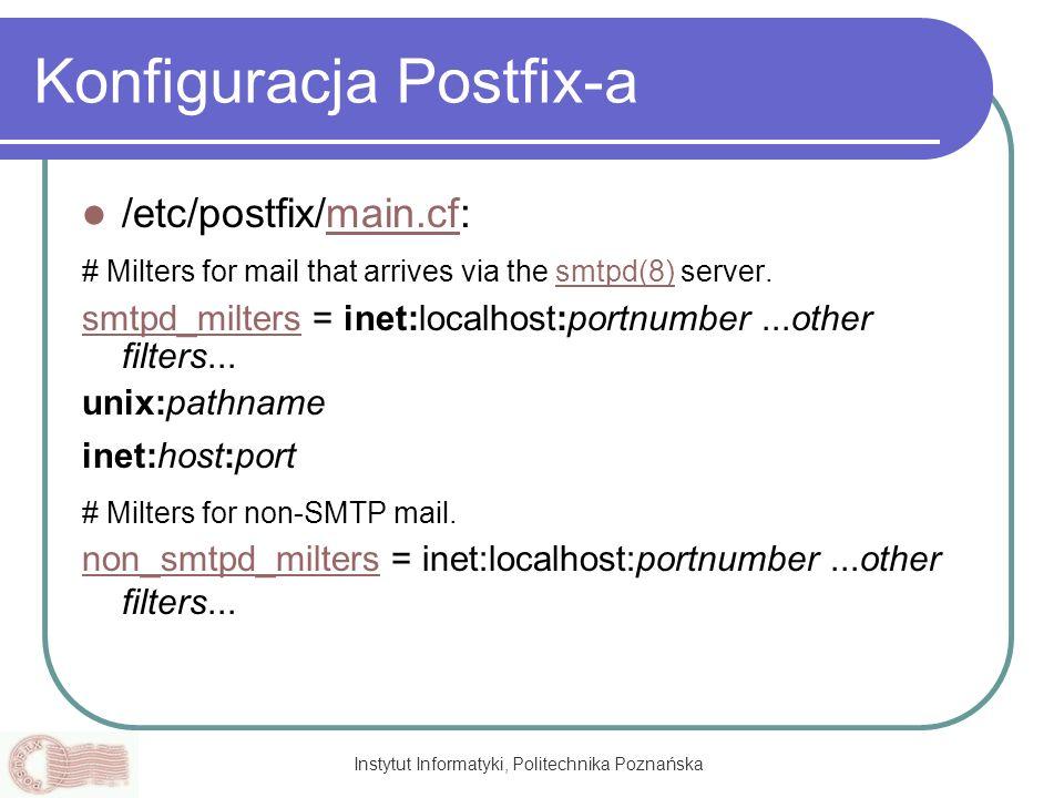 Konfiguracja Postfix-a