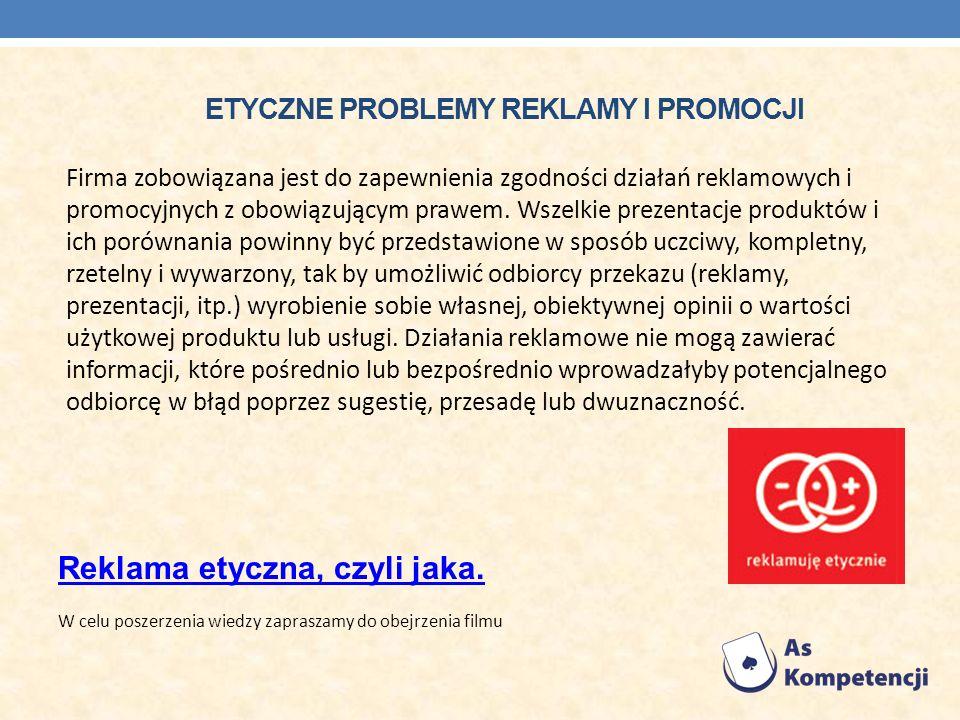 Etyczne problemy reklamy i promocji