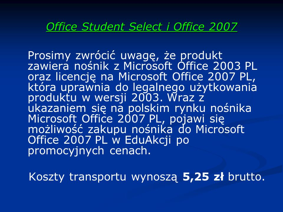 Office Student Select i Office 2007