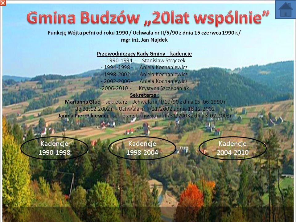 """Gmina Budzów """"20lat wspólnie"""