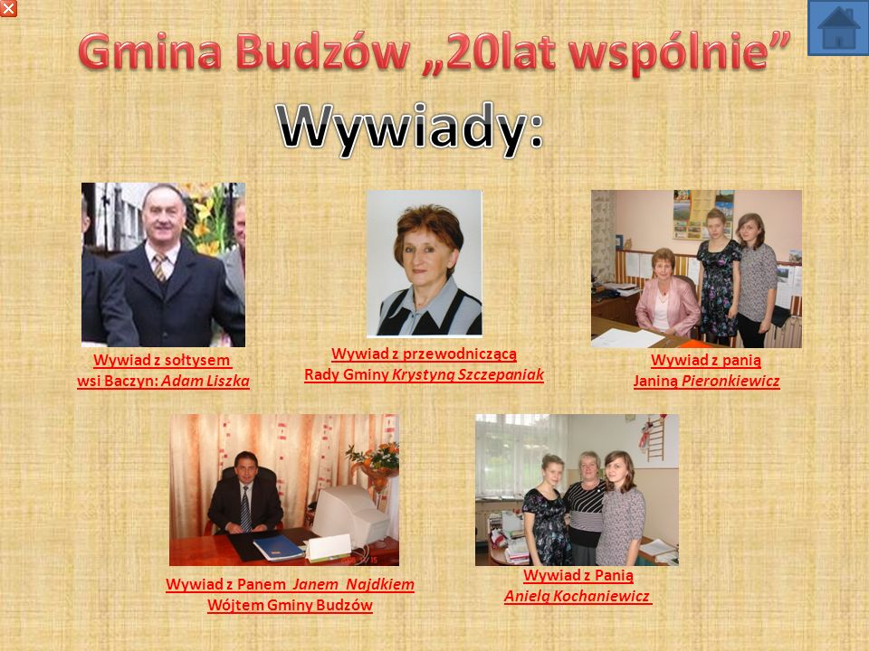 """Wywiady: Gmina Budzów """"20lat wspólnie Wywiad z przewodniczącą"""