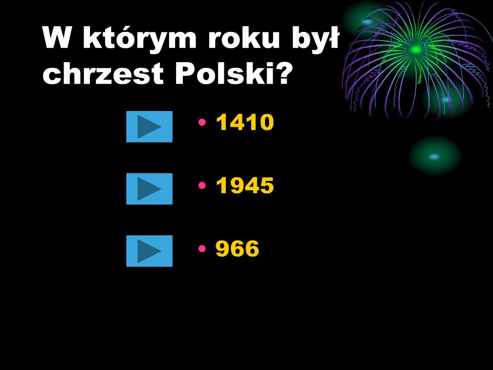 W którym roku był chrzest Polski