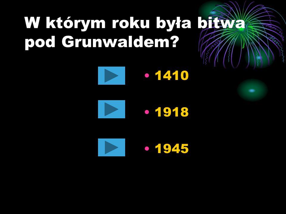 W którym roku była bitwa pod Grunwaldem
