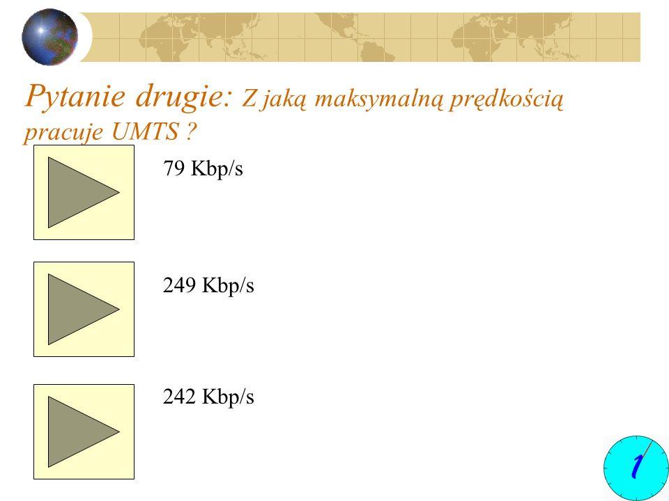 Pytanie drugie: Z jaką maksymalną prędkością pracuje UMTS
