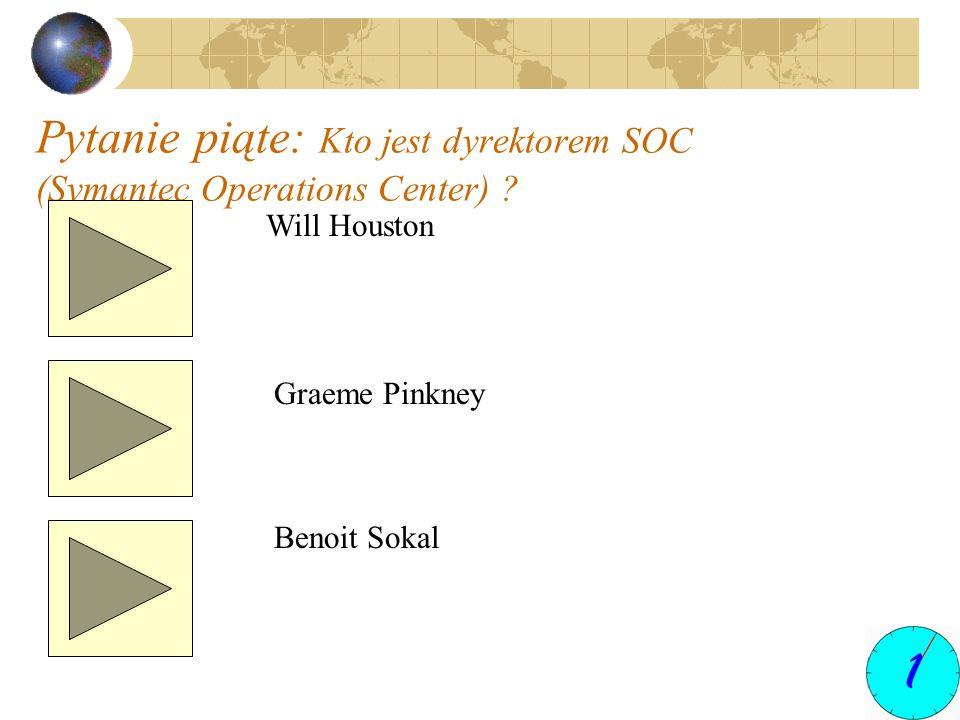 Pytanie piąte: Kto jest dyrektorem SOC (Symantec Operations Center)