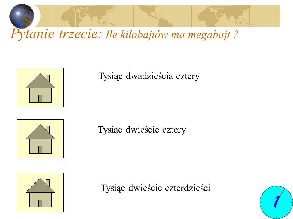 Pytanie trzecie: Ile kilobajtów ma megabajt