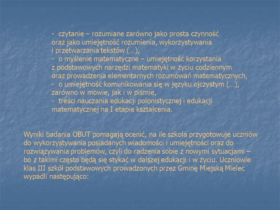 czytanie – rozumiane zarówno jako prosta czynność oraz jako umiejętność rozumienia, wykorzystywania i przetwarzania tekstów (…),
