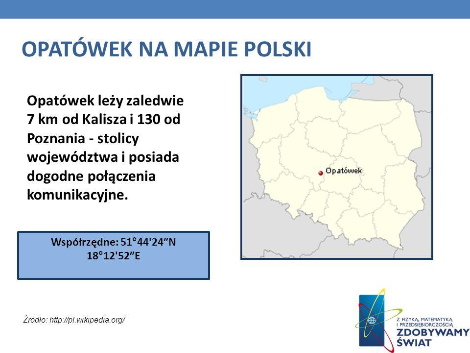OPATÓWEK NA MAPIE POLSKI