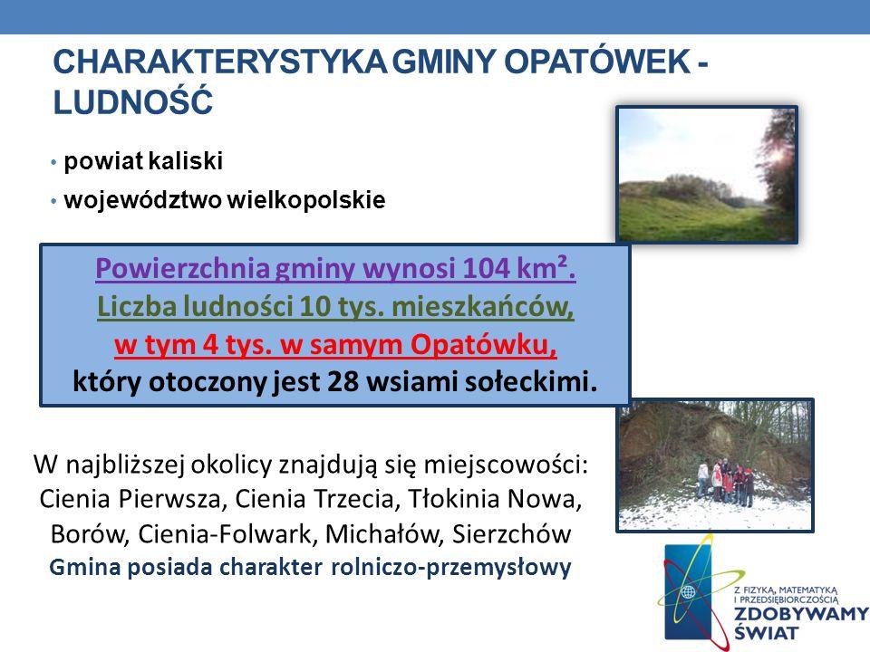 Charakterystyka gminy opatówek - ludność