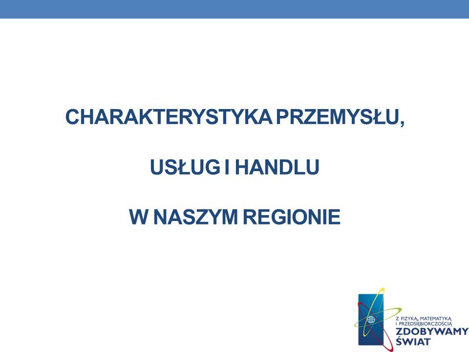 Charakterystyka przemysłu, usług i handlu w naszym regionie