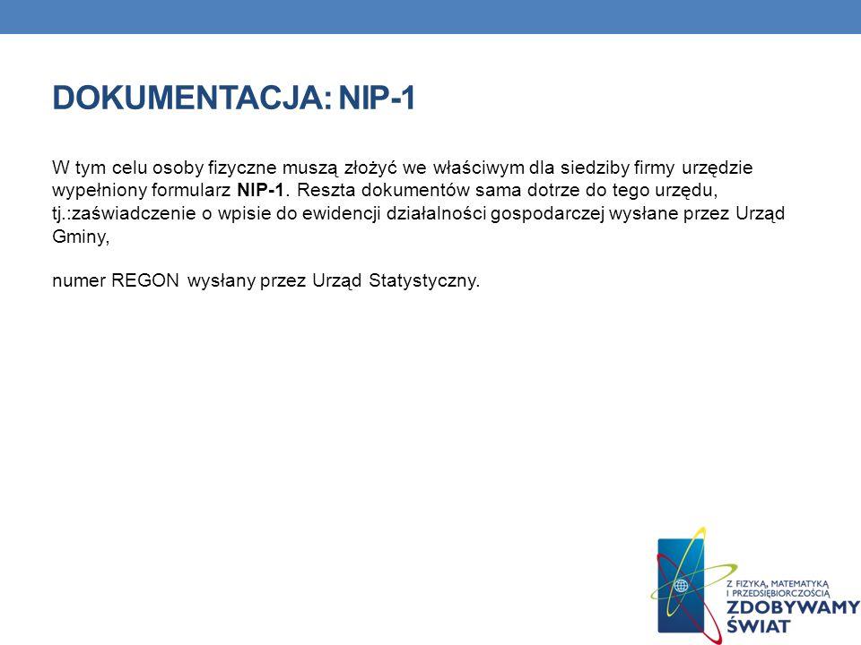 DOKUMENTACJA: NIP-1