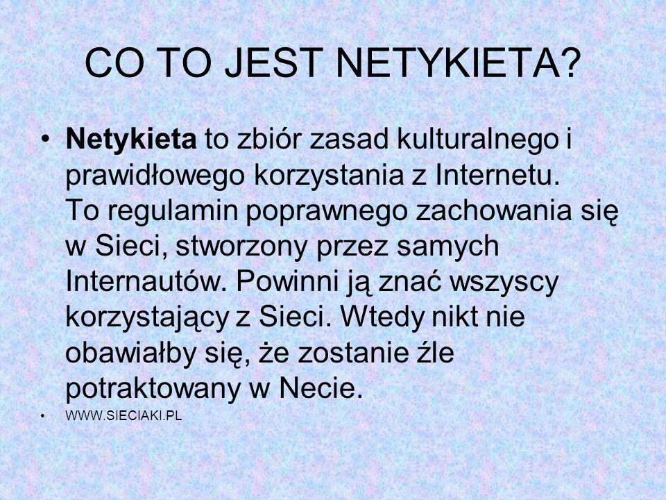 CO TO JEST NETYKIETA