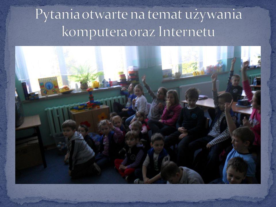 Pytania otwarte na temat używania komputera oraz Internetu
