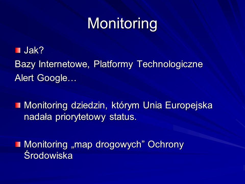 Monitoring Jak Bazy Internetowe, Platformy Technologiczne
