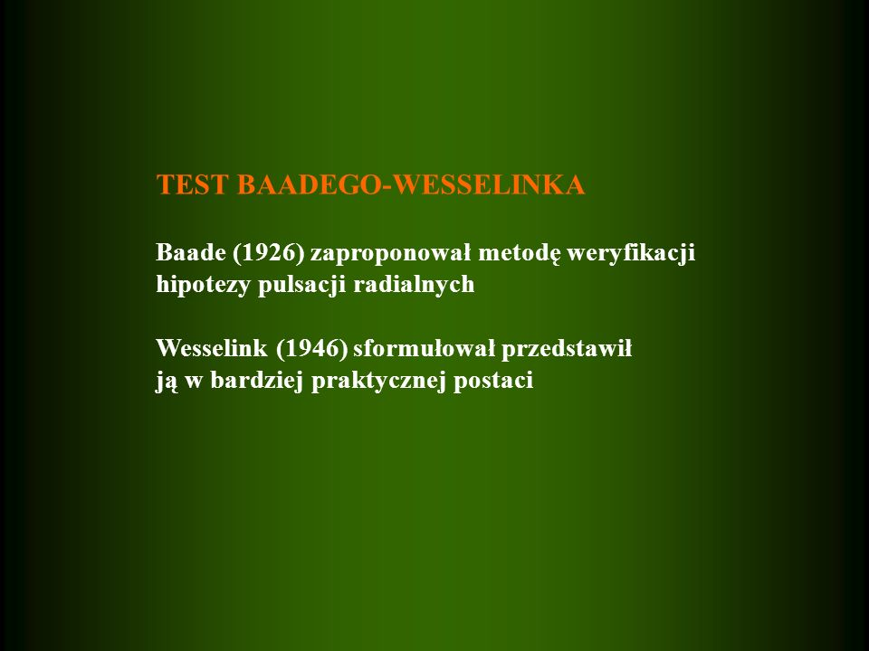 TEST BAADEGO-WESSELINKA
