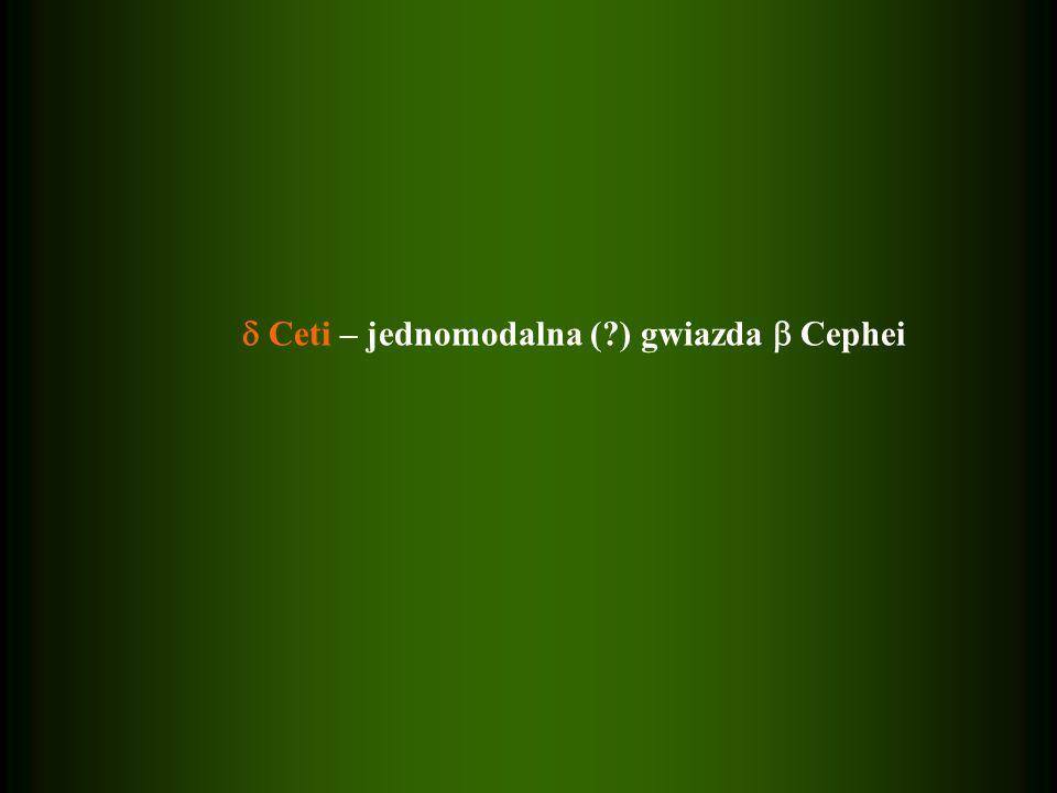  Ceti – jednomodalna ( ) gwiazda  Cephei