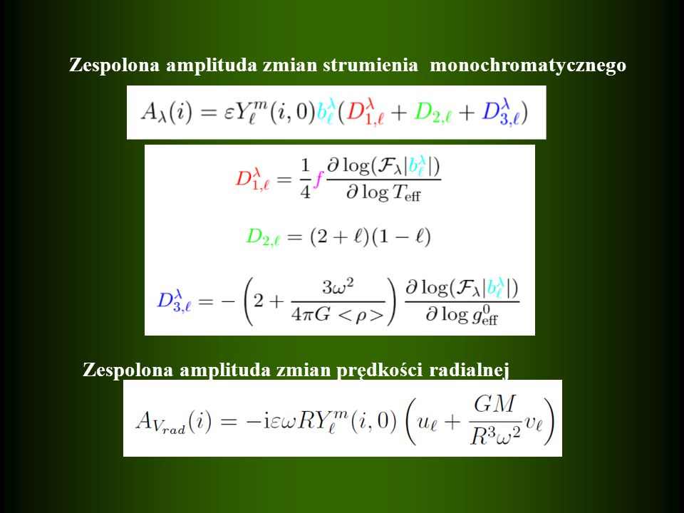 Zespolona amplituda zmian strumienia monochromatycznego