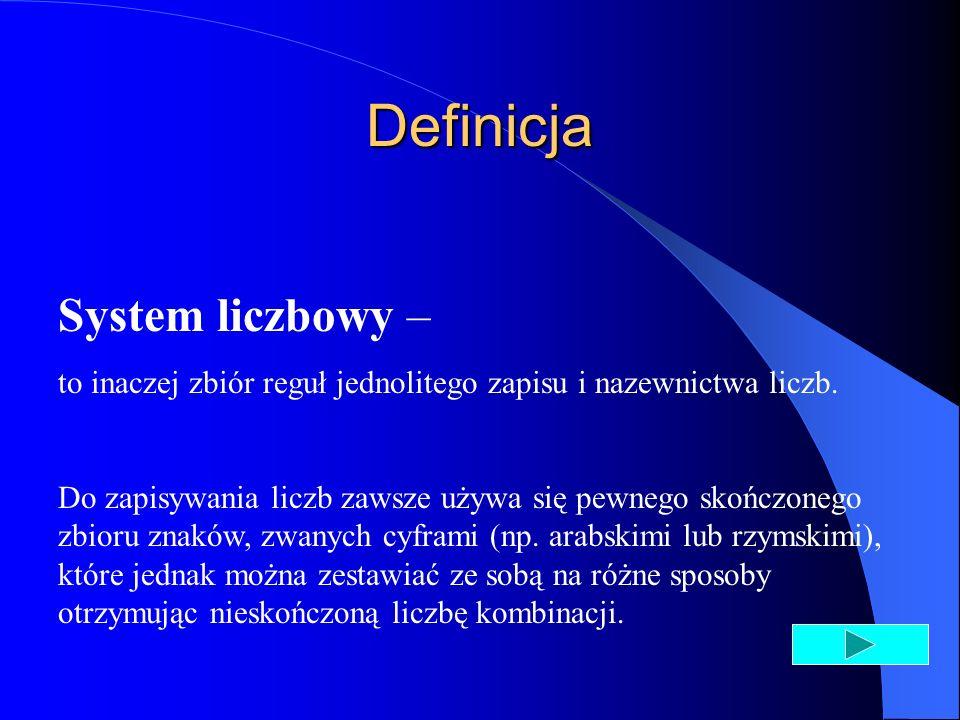 Definicja System liczbowy –