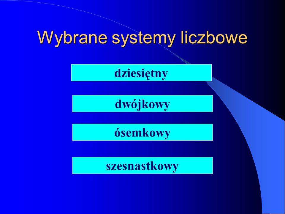 Wybrane systemy liczbowe