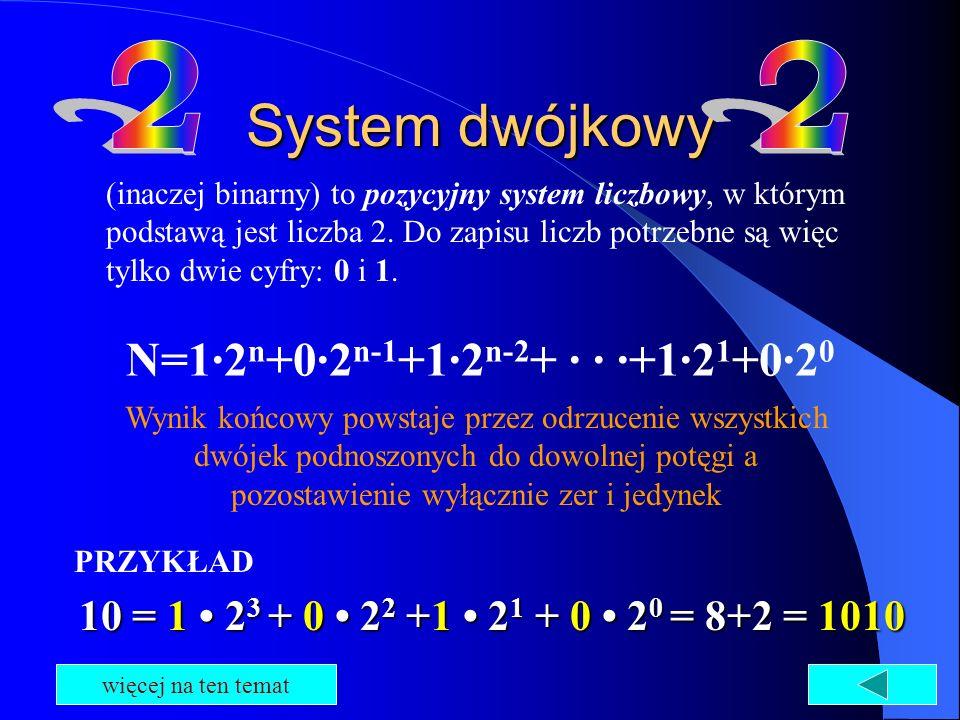 N=1·2n+0·2n-1+1·2n-2+ · · ·+1·21+0·20