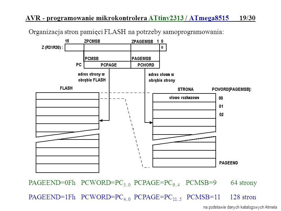 AVR - programowanie mikrokontrolera ATtiny2313 / ATmega8515 19/30