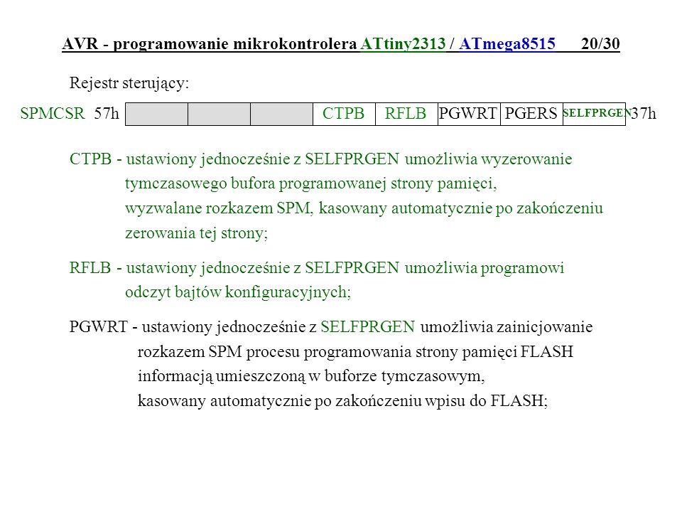 AVR - programowanie mikrokontrolera ATtiny2313 / ATmega8515 20/30