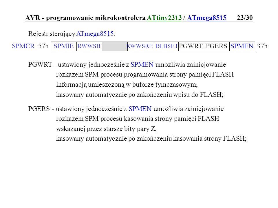 AVR - programowanie mikrokontrolera ATtiny2313 / ATmega8515 23/30