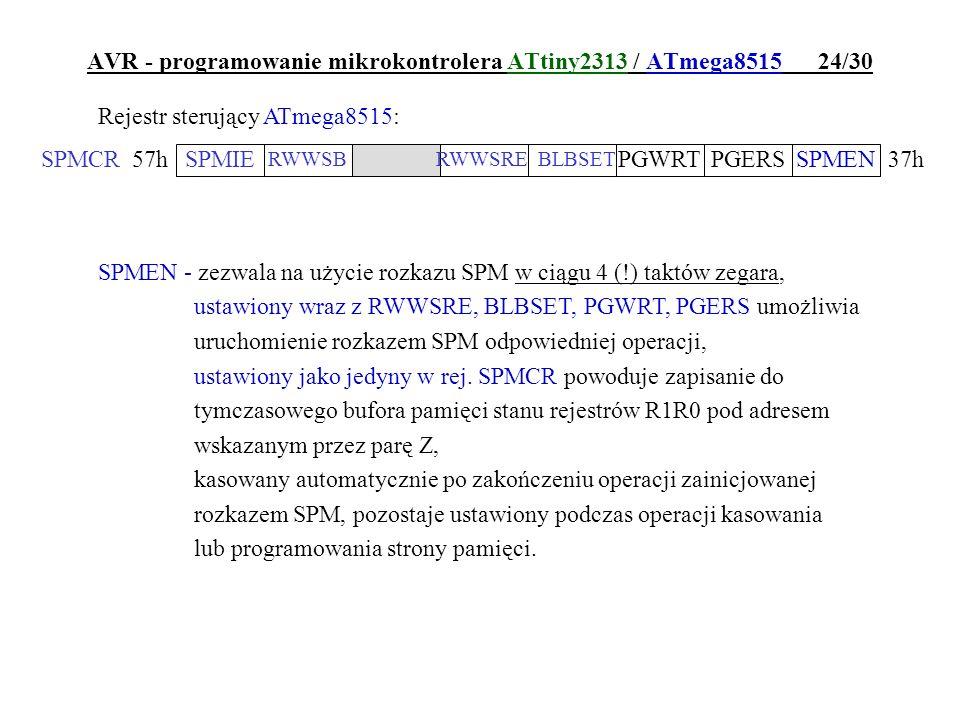 AVR - programowanie mikrokontrolera ATtiny2313 / ATmega8515 24/30