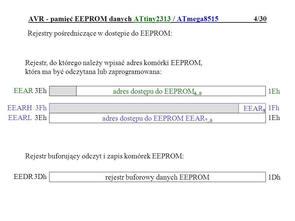 AVR - pamięć EEPROM danych ATtiny2313 / ATmega8515 4/30