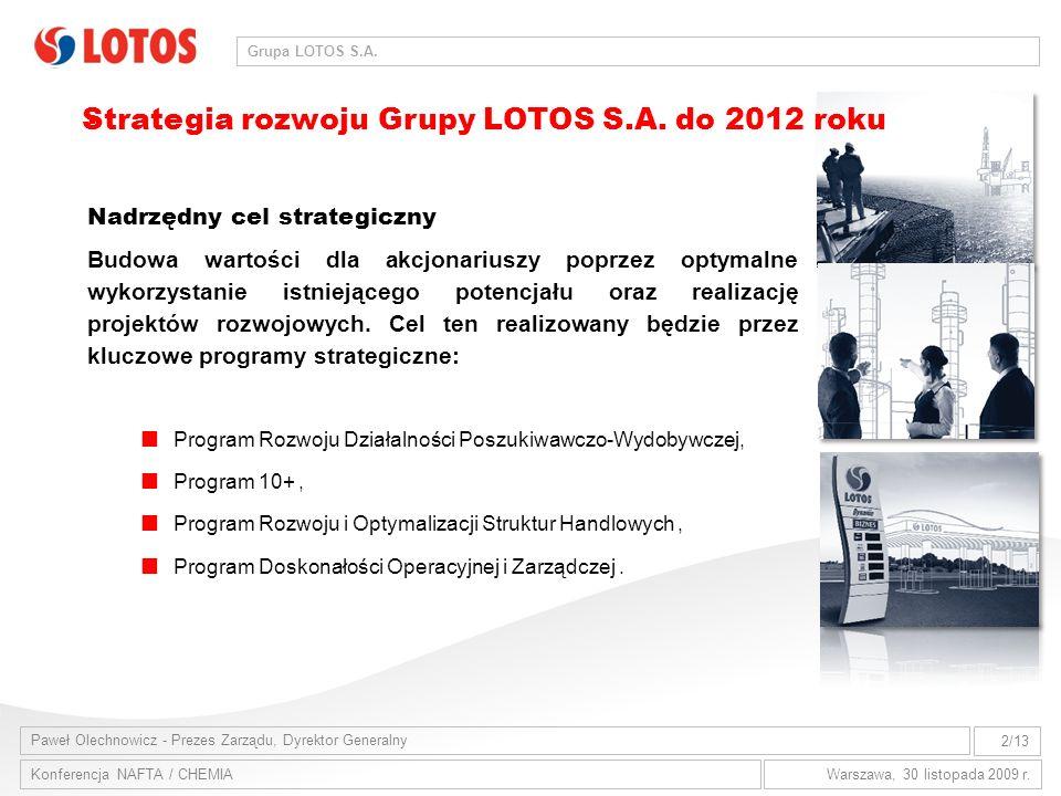 Strategia rozwoju Grupy LOTOS S.A. do 2012 roku .