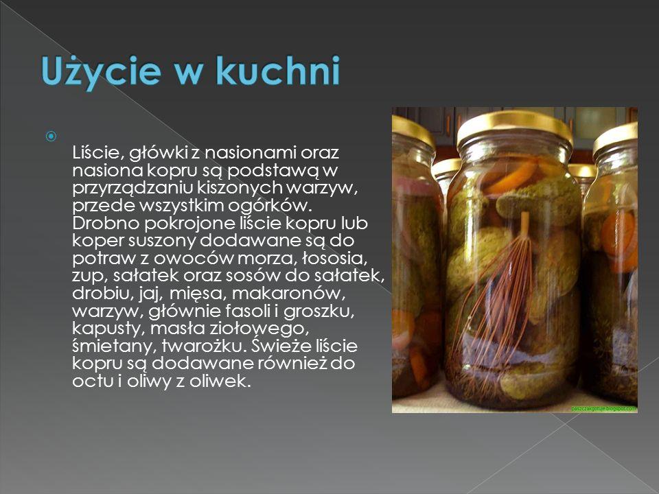 Użycie w kuchni