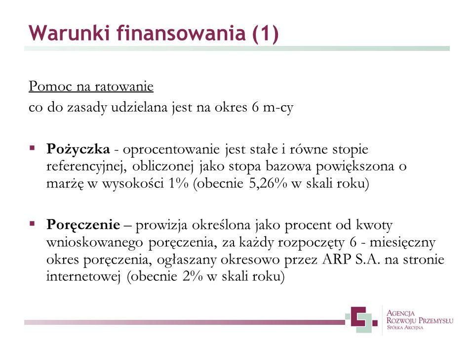 Warunki finansowania (1)
