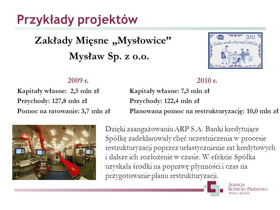 """Przykłady projektów Zakłady Mięsne """"Mysłowice Mysław Sp. z o.o."""