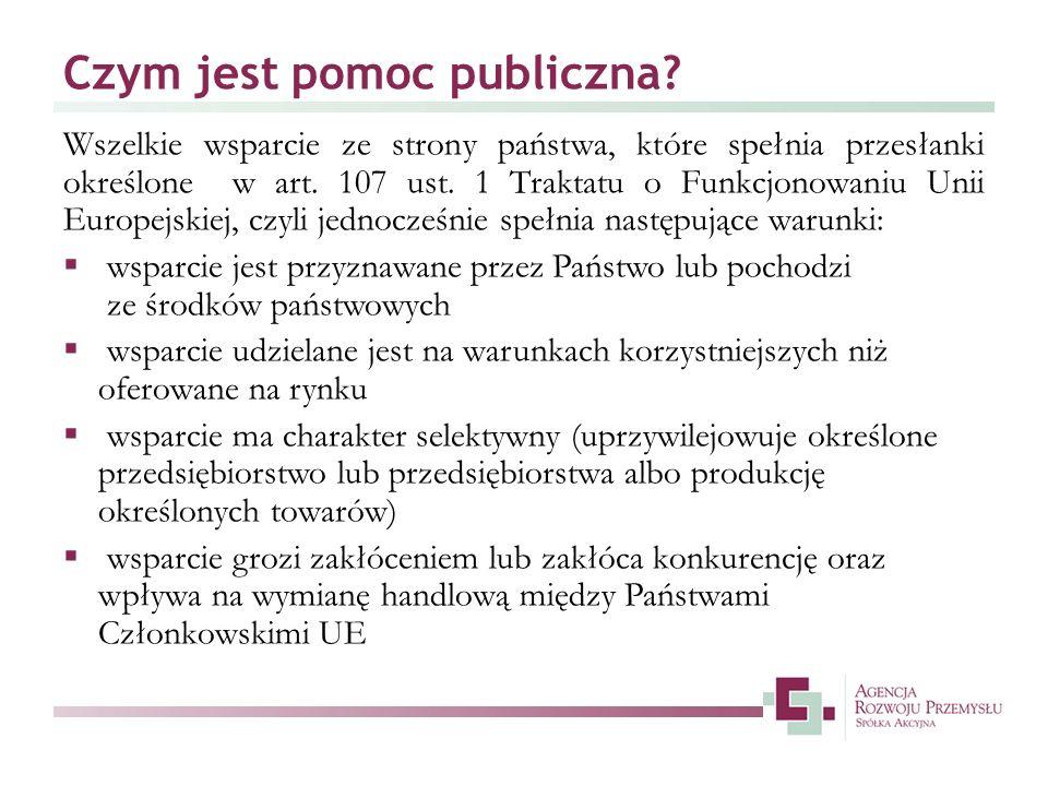 Czym jest pomoc publiczna