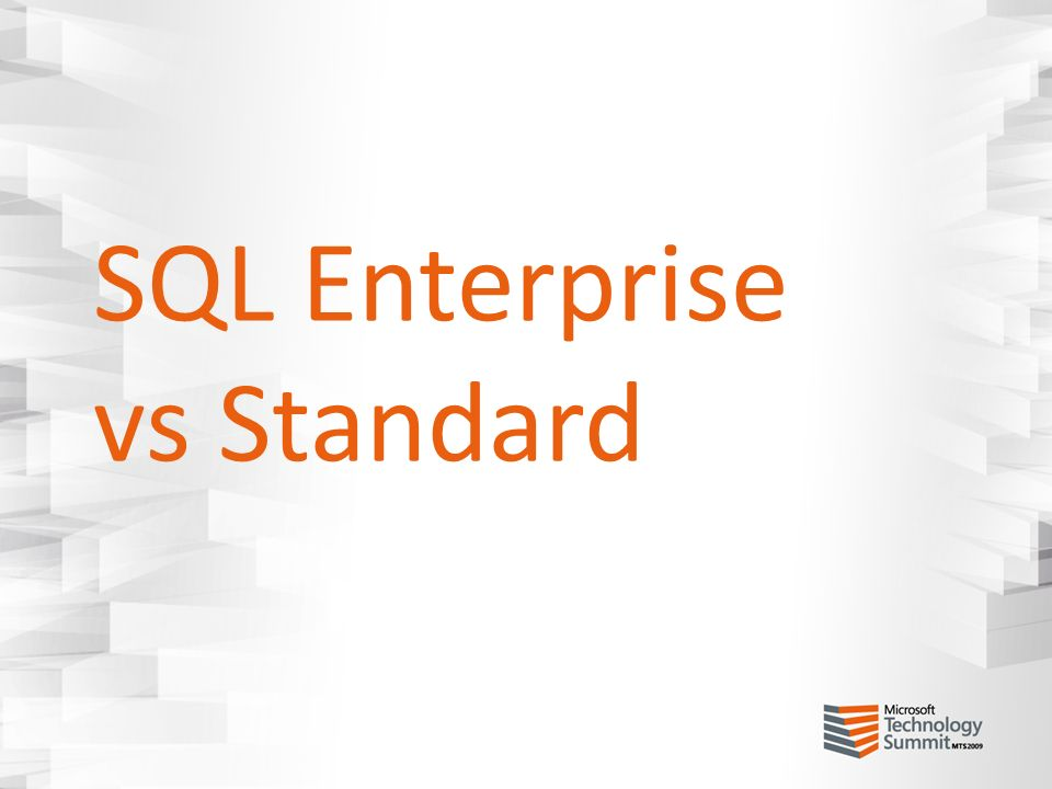 SQL Enterprise vs Standard