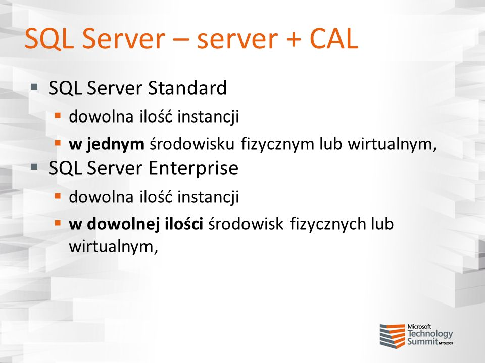 SQL Server – server + CAL