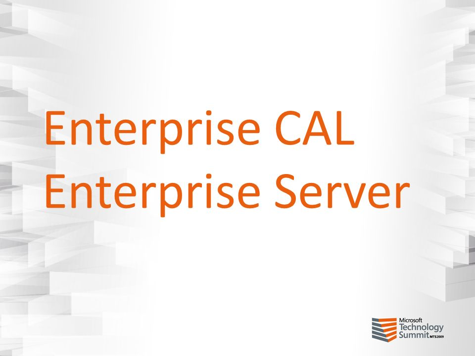 Enterprise CAL Enterprise Server