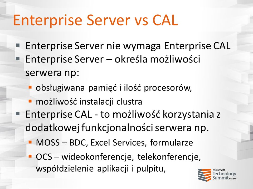 Enterprise Server vs CAL