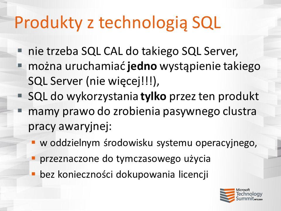 Produkty z technologią SQL