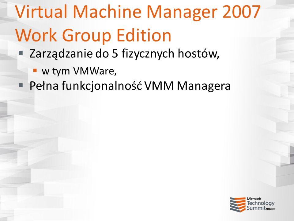 Virtual Machine Manager 2007 Work Group Edition