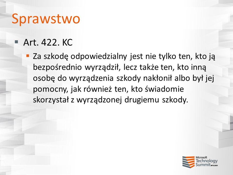 Sprawstwo Art. 422. KC.