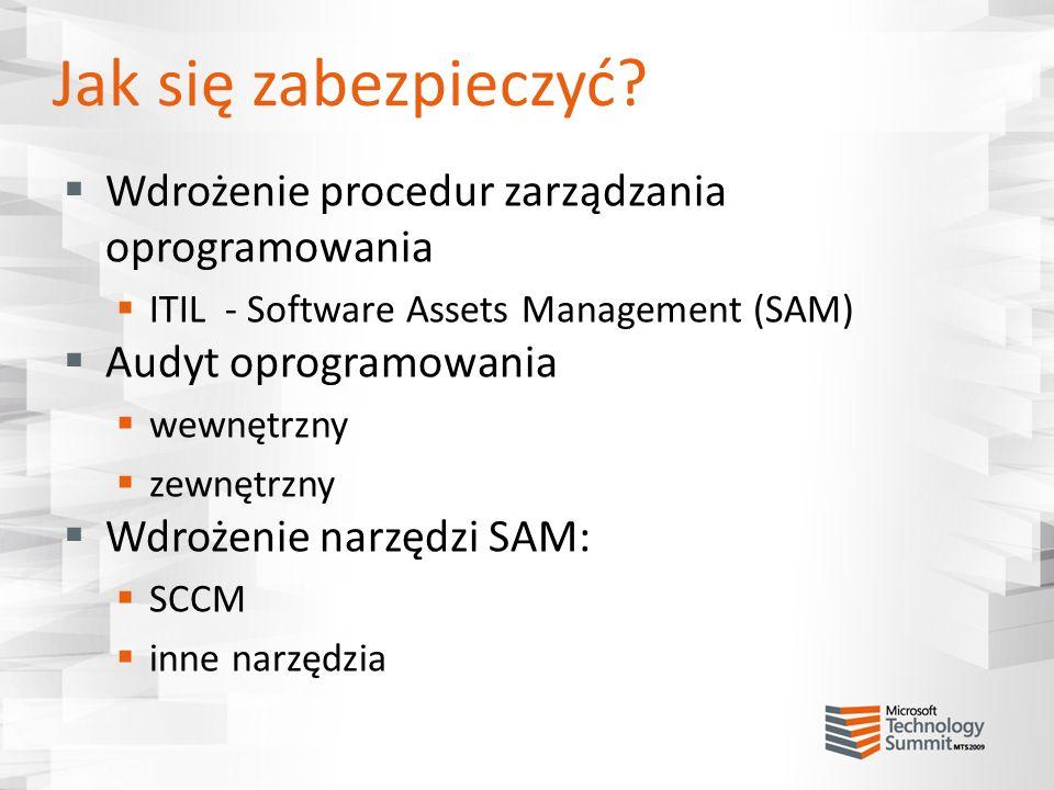 Jak się zabezpieczyć Wdrożenie procedur zarządzania oprogramowania