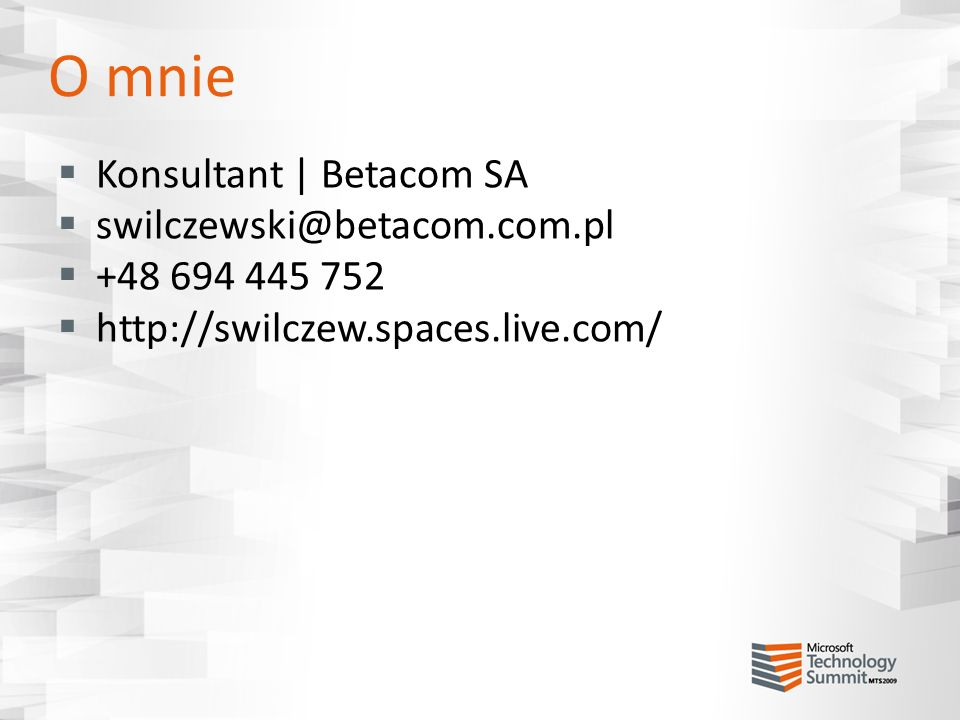O mnie Konsultant | Betacom SA swilczewski@betacom.com.pl
